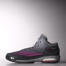 adidas - Crazylight Boost Shoes Light Onix  /  Intense Pink  /  Sharp Grey C75902