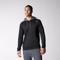 adidas - Ultimate Fleece Hoodie Black  /  Solid Grey M63607