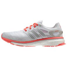 adidas - Energy Boost Shoes Running White Ftw  /  Silver Metallic  /  Red Zest Q33960