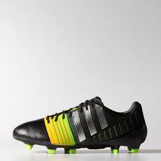 adidas - Nitrocharge 1.0 FG Cleats Core Black  /  Metallic Silver  /  Neon Orange M17722