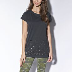 adidas - Selena Gomez Elongated Studded Tee Black M32068