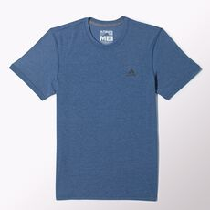 adidas - Clima Ultimate Short Sleeve Tee Vista Blue  /  Colored Heather  /  Solid Grey M35413
