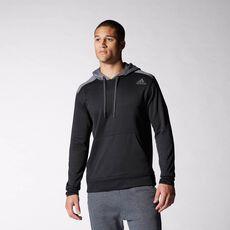 adidas - Ultimate Fleece Hoodie Black  /  Solid Grey M63607
