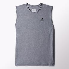 adidas - Clima Ultimate Sleeveless Tee Dark Grey Heather  /  Black O21485
