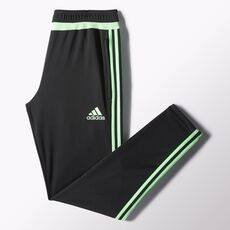 adidas - Tiro 15 Training Pants Black  /  Flash Green  /  Black S30160