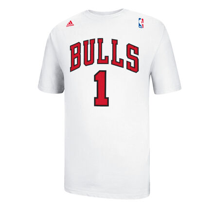 adidas Derrick Rose Bulls Replica Tee White
