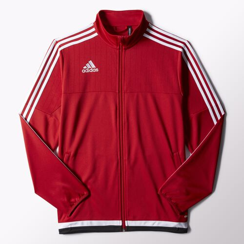 Red adidas Tiro 15 Training Jacket