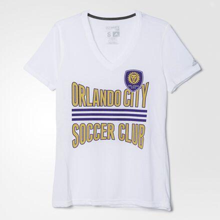 adidas Orlando City SC Middle Stripes Tee WHITE