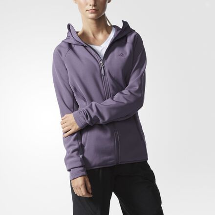 adidas Mountainglow Hooded Fleece Jacket ASHPUR
