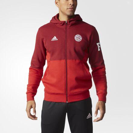 adidas FC Bayern Hoodie Craft Red