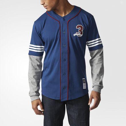 adidas Team Turkey Vulture Baseball Jersey Oxford Blue