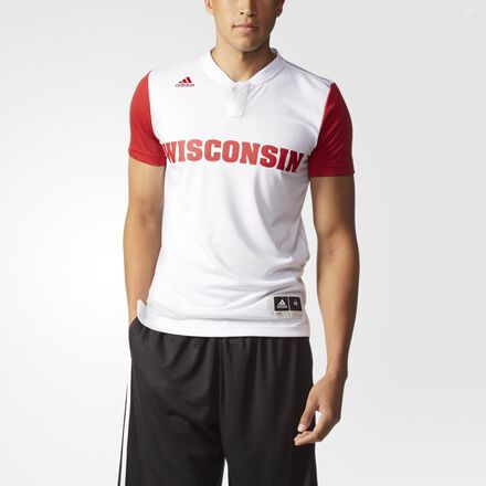 adidas Badgers On-Court Shooter Shirt MULTI