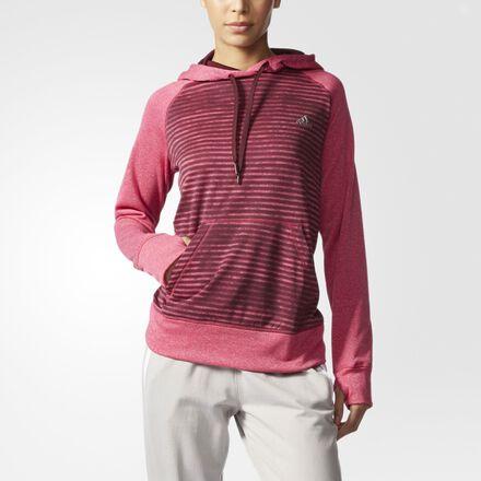 adidas Ultimate Striped Hoodie Bold Pink