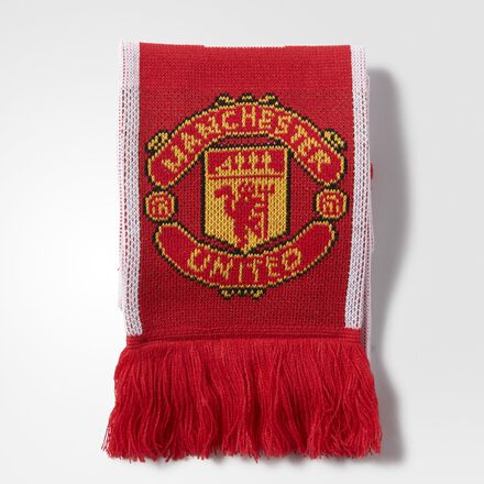 adidas Manchester United FC Scarf Real Red
