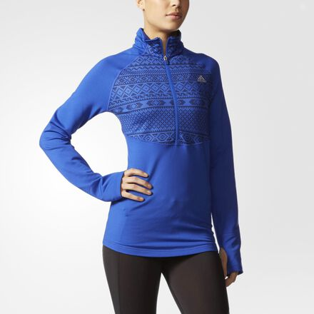 adidas Techfit Climawarm Nordic Training Top Bold Blue