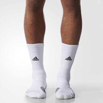 adidas Traxion Menace Crew Socks Large 1 Pair WHITE