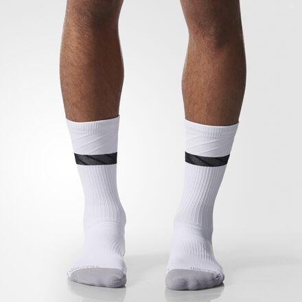 adidas Traxion Premier Crew Socks 1 Pair Large White