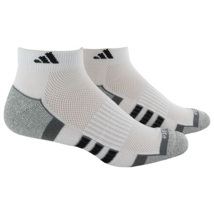 adidas Climalite 2.0 Low-Cut Socks 2 Pairs Med White