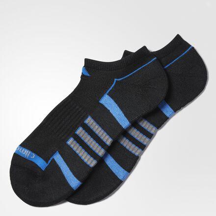 adidas Climalite 2.0 No-Show Socks 2 Pairs BLACK