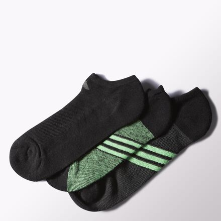 adidas Climacool Superlite No Show Socks 3 Prs Black