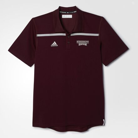 adidas Bulldogs Sideline Coach Polo Shirt Maroon