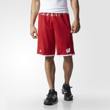 adidas Badgers Shock Energy Print Shorts Red