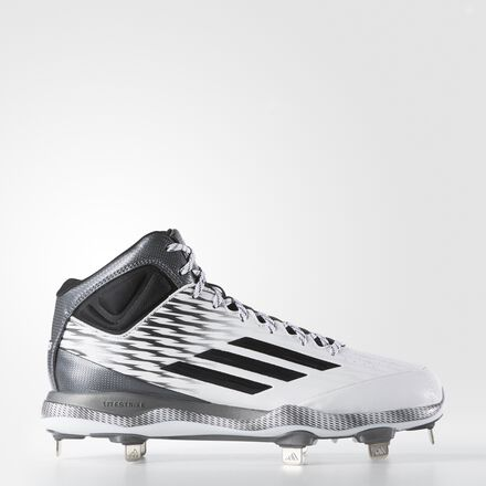 adidas PowerAlley 3 Mid Cleats Running White Ftw