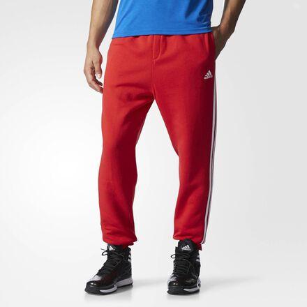adidas Slim 3-Stripes Sweat Pants Scarlet