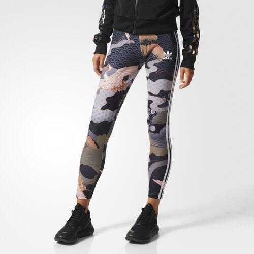 adidas - Kimono Print Leggings Multicolor AJ7232