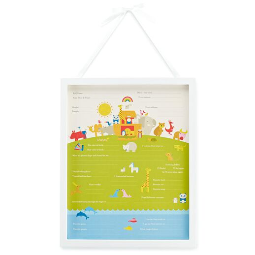Baby's First Year Milestones Frame