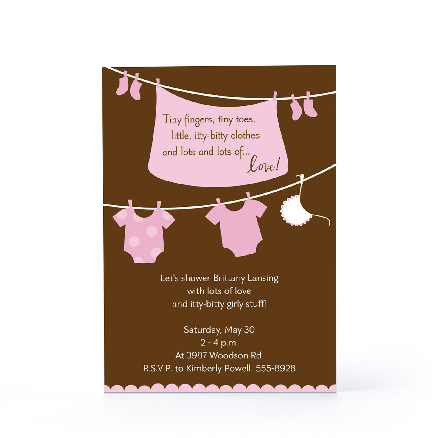 itty bitty girl stuff baby invitations and announcements hallmark