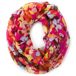 Spring Multicolor Floral Infinity Scarf