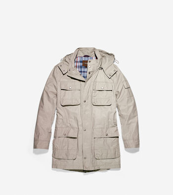 Waxed Cotton Hooded Jacket