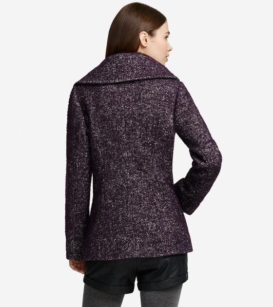 Boucle Herringbone Coat