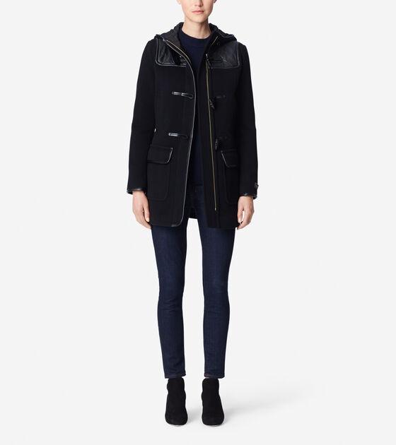 Outerwear > Wool Plush Textured Duffle
