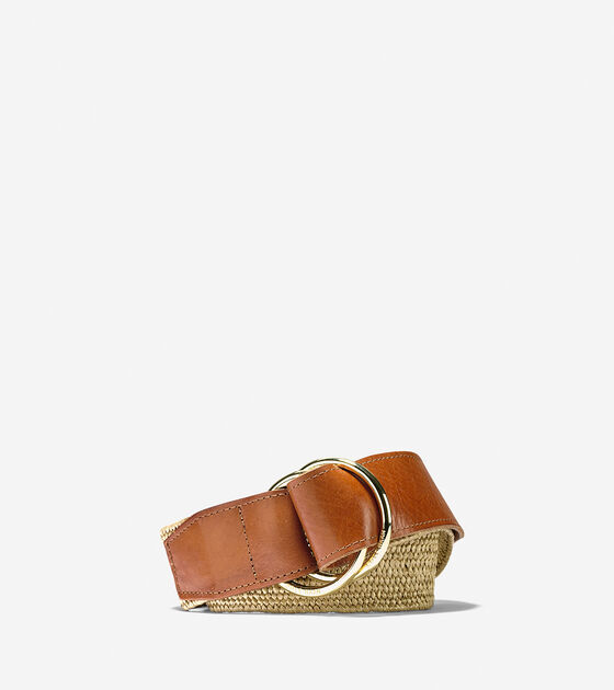 Stretch Raffia Belt