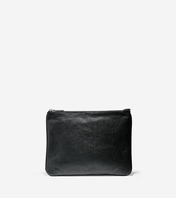 Pebbled Leather Large Pouch