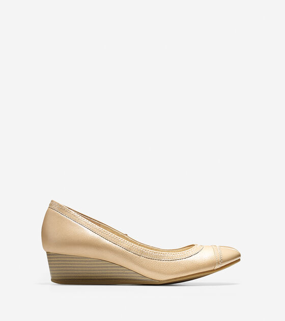 Ballet Flats & Wedges > Elsie Cap Toe Wedge (40mm)