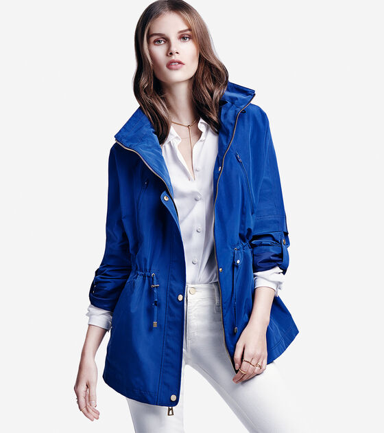 Outerwear > Silky Nylon Rain Jacket