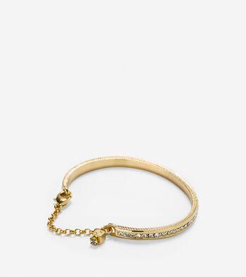 Skinny Pave Bar Pull Tie Bracelet