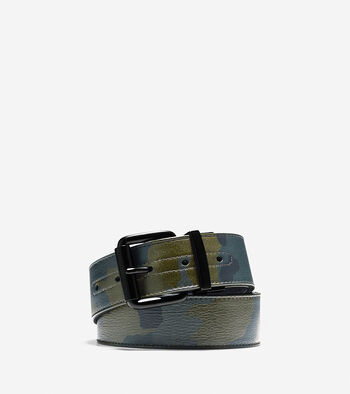 38mm Camo Leather Belt