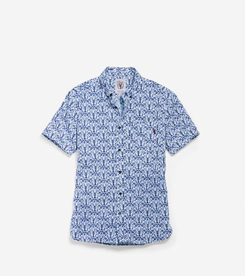 Men's Pinch Short Sleeve Lobster Pocket Shirt