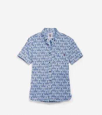 Men's Pinch Short Sleeve Lobster Pocket Shirt