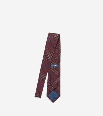 Benson Printed Plaid Tie