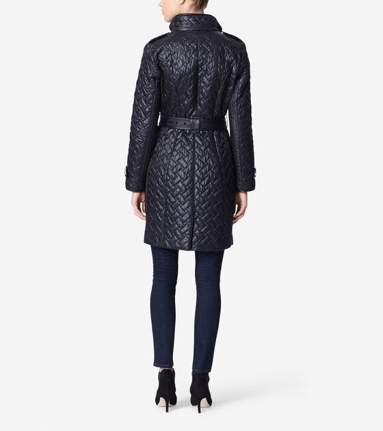 Signature Quilt Belted Coat