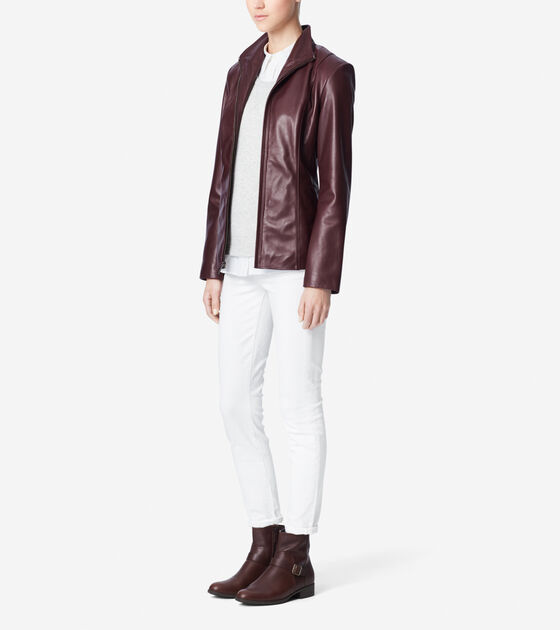Modern Lamb Single Breasted Jacket