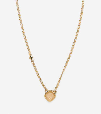 Dainty Stone Pendant Necklace