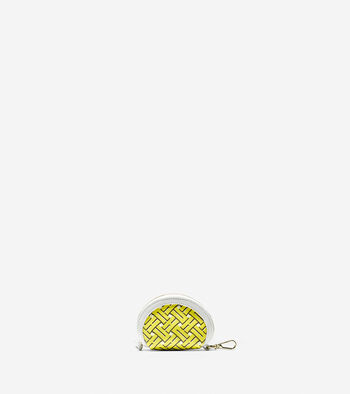 Signature Weave Coin Pouch