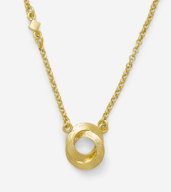 17 Inch Single Circle Pendant Necklace