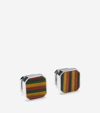 Wood Inlay Cuff Links